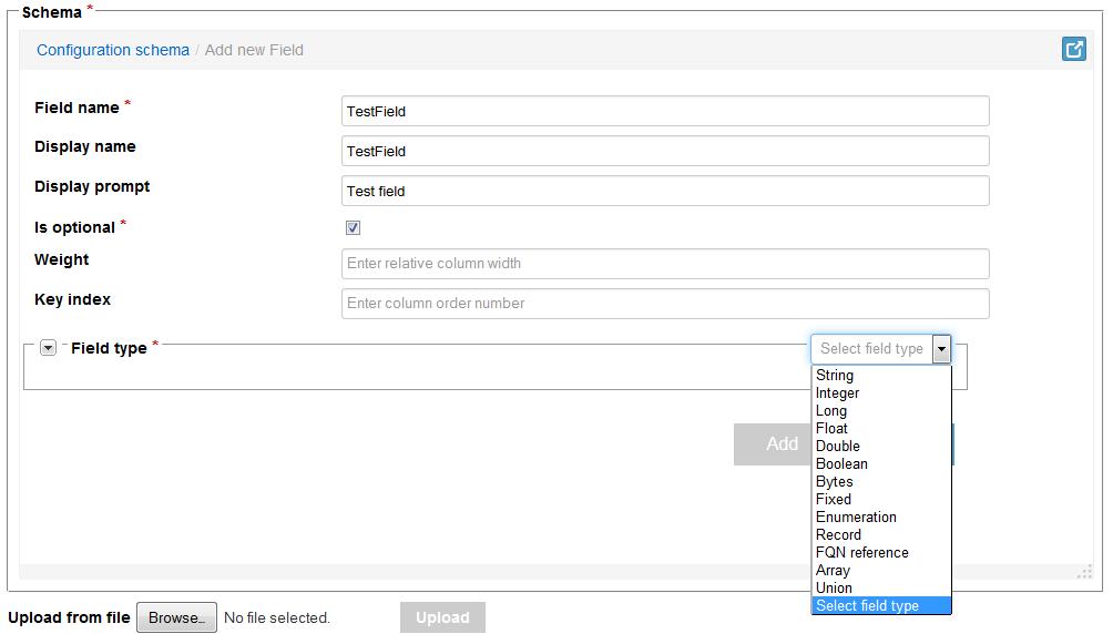 Avro UI forms - Kaa - Kaa documentation